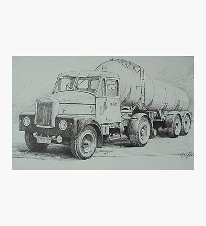 Black and white Scammell. Photographic Print