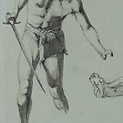 Study for a warrior. by Mike Jeffries