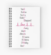 Grey's name-grey's anatomy Spiral Notebook