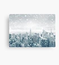 Snowfall in New York City Canvas Print