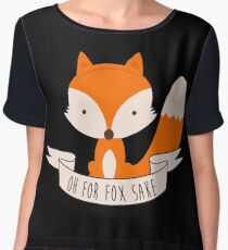 Oh For Fox Sake Women's Chiffon Top