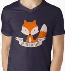 Oh For Fox Sake Men's V-Neck T-Shirt