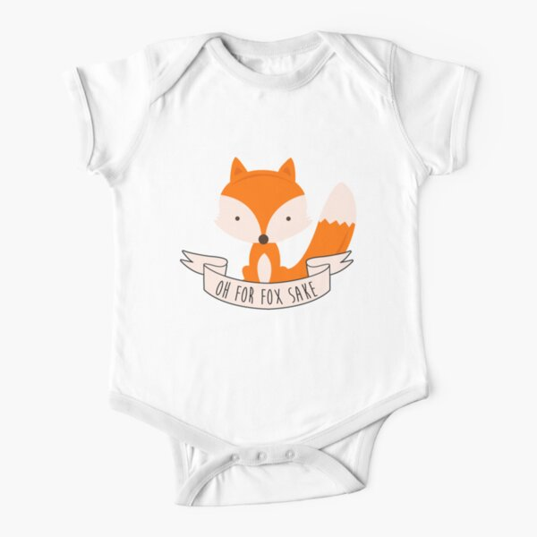 Oh For Fox Sake Short Sleeve Baby One-Piece