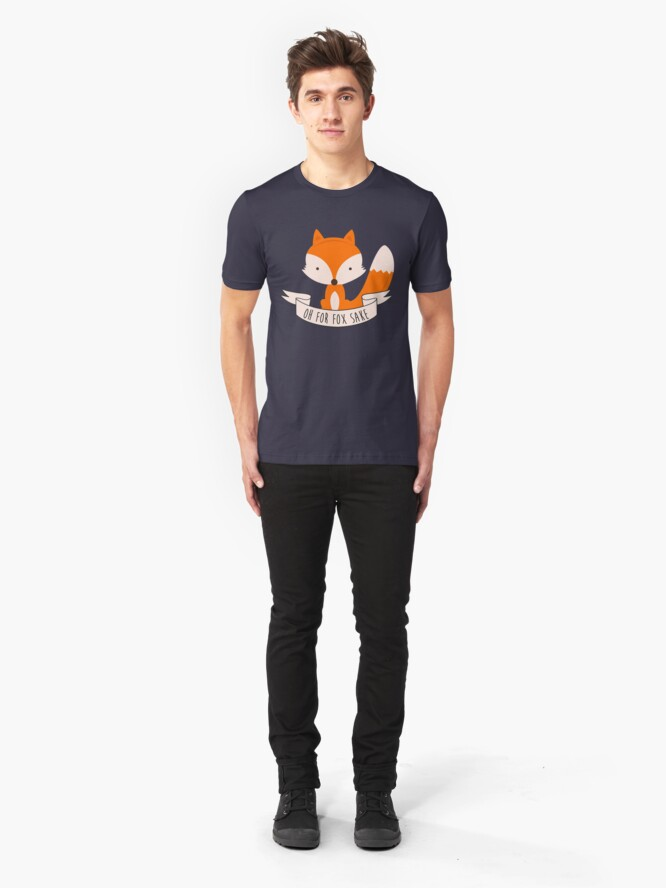 Alternate view of Oh For Fox Sake Slim Fit T-Shirt