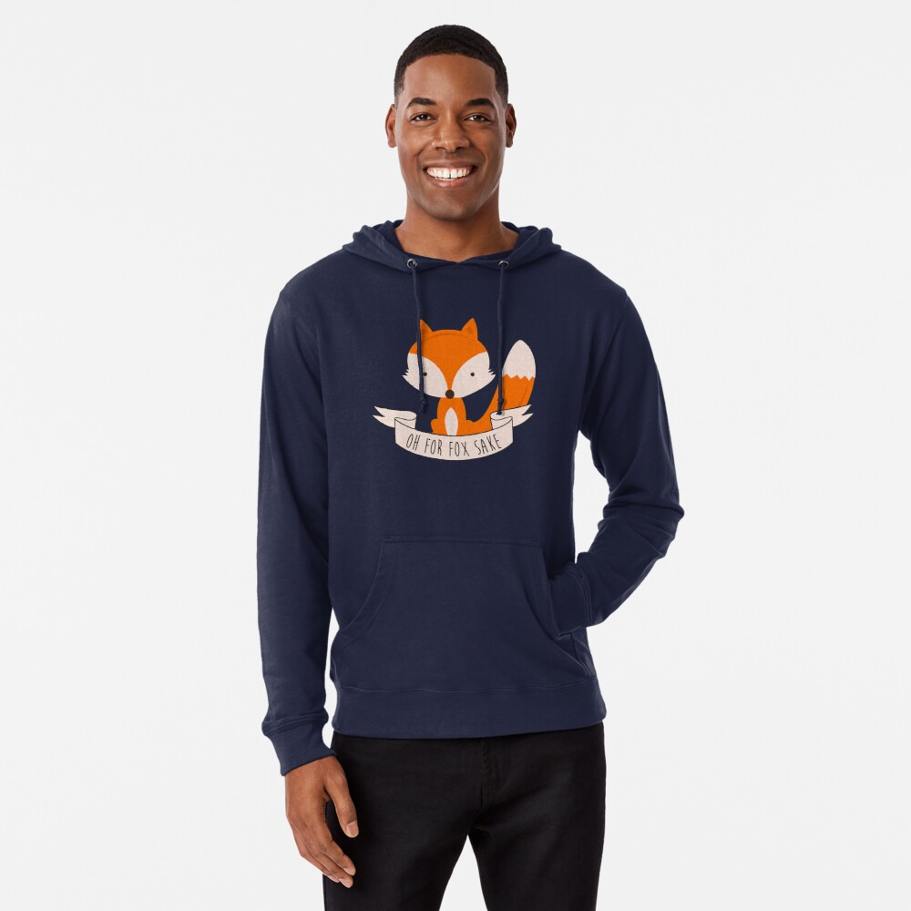 Oh For Fox Sake Lightweight Hoodie