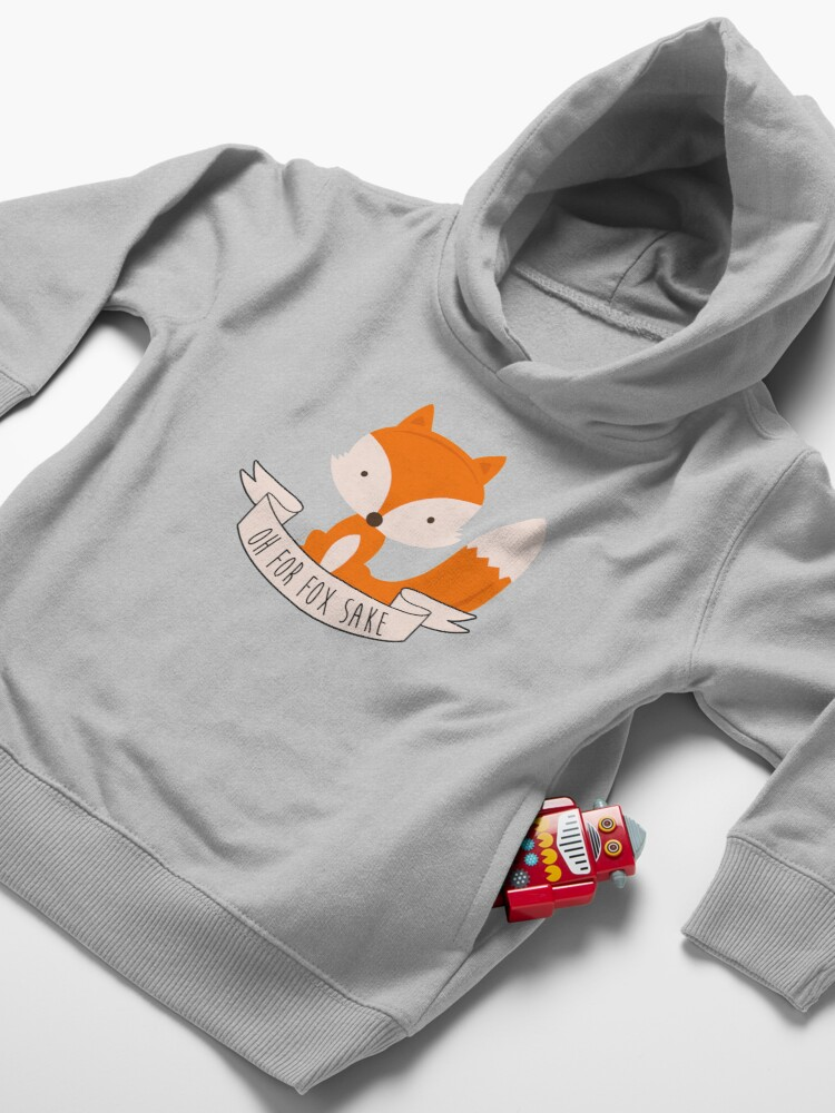 Alternate view of Oh For Fox Sake Toddler Pullover Hoodie