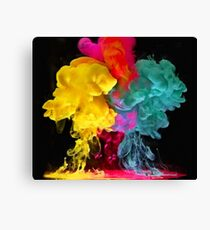 Multicolored ink in water Canvas Print