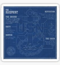 The Blueprint for success Sticker