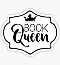 Book Queen - Bookish Graphic Designs (Flourish and Books) Sticker