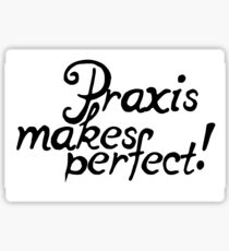 Praxis makes Perfect! Sticker