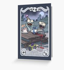 Zombie greeting cards redbubble zombie birthday greeting card m4hsunfo