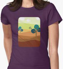 Minimalist Tshirt Landscape Retro Womens Fitted T-Shirt