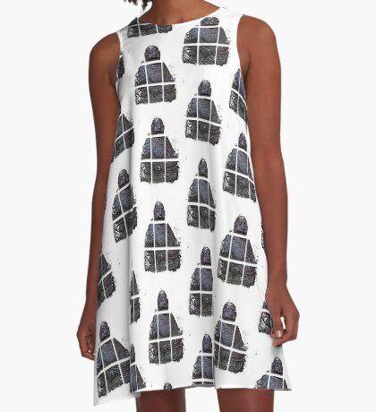 budha cubed ?  A-Line Dress