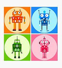 funny robots Photographic Print