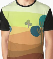 Minimalist Tshirt Landscape Retro Graphic T-Shirt