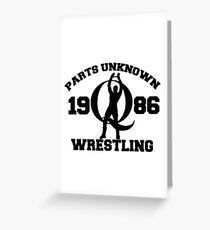 Mysterious Q - Parts Unknown Wrestling Greeting Card