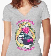 Thug Usagi. Women's Fitted V-Neck T-Shirt
