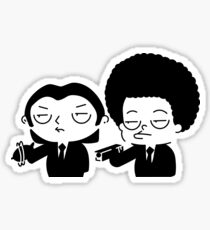 Stewie and Ralo - pulp fiction Sticker