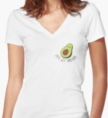 Lets Get Smashed - Avocado  Women's Fitted V-Neck T-Shirt