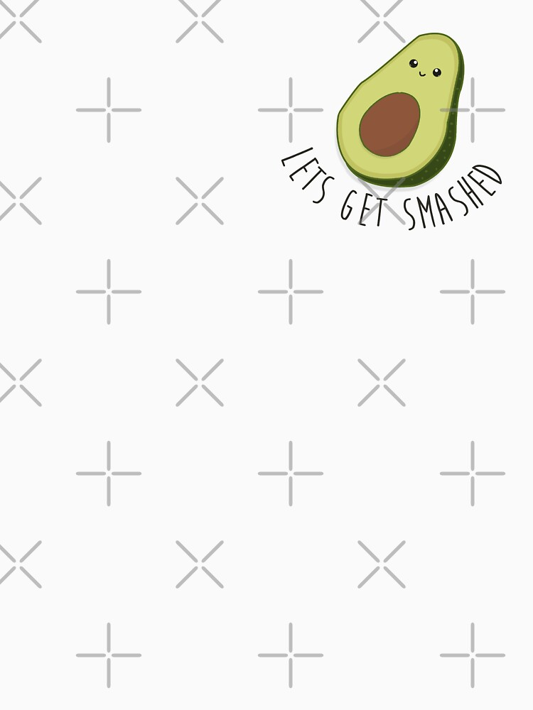 Lets Get Smashed - Avocado  | Women's Fitted Scoop T-Shirt