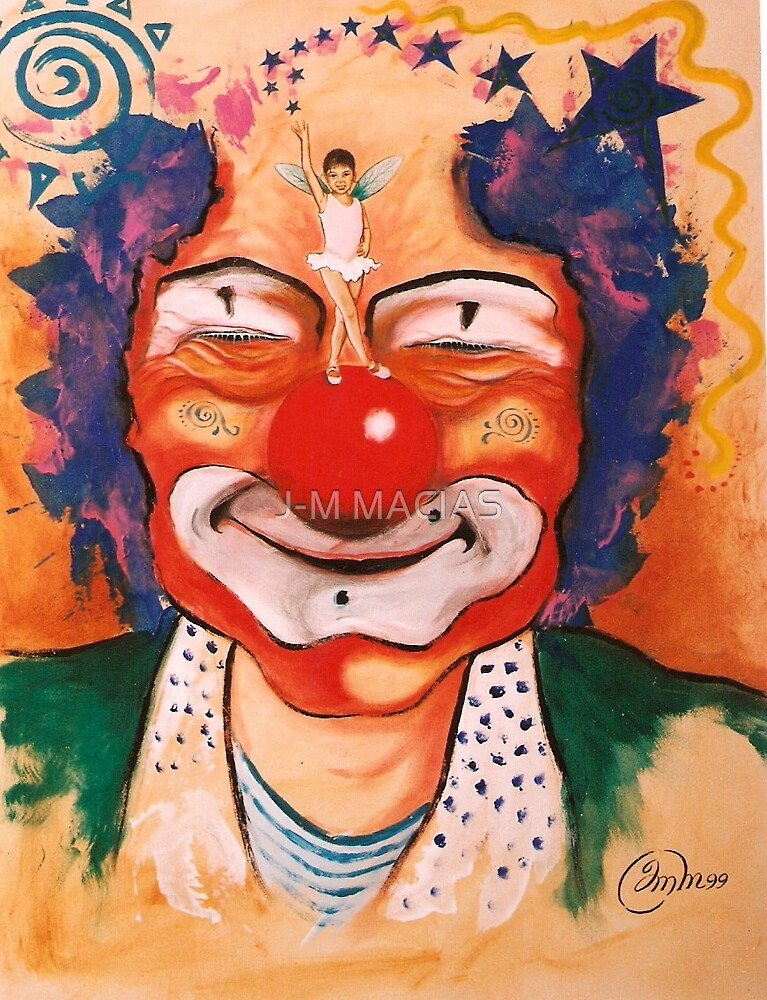 the clown and little girl by J-M MACIAS