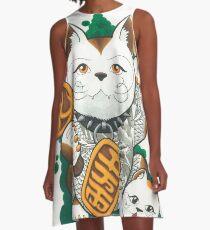 Tattooed Lucky Cat A-Line Dress