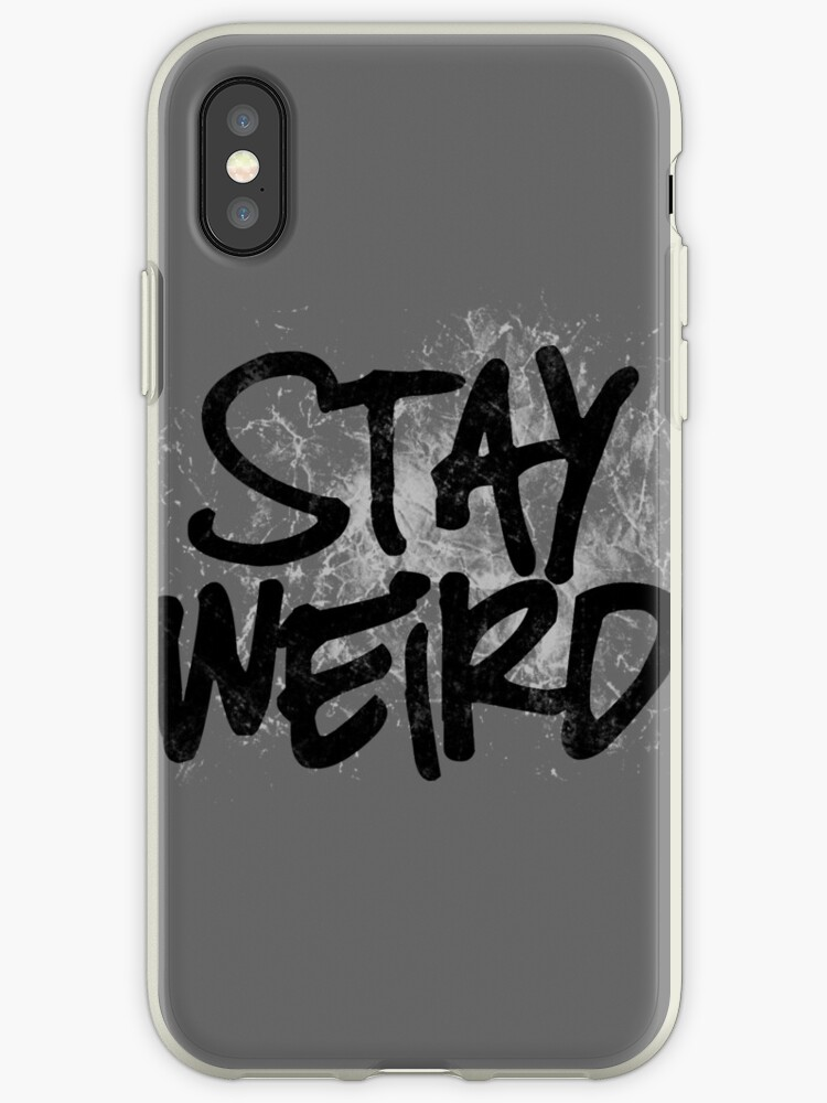 premium selection bc9f8 bfb9d 'Stay weird' iPhone Case by digerati