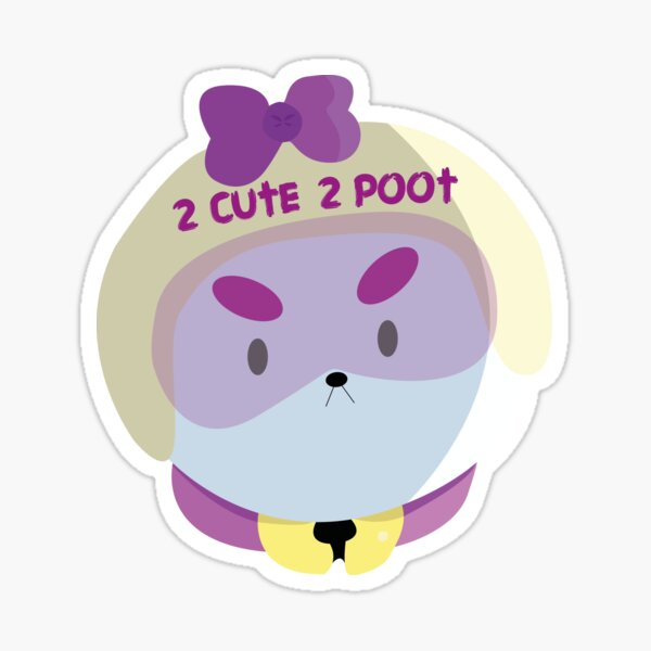 2 CUTE 2 POOT | Bee and Puppycat Vector Art Sticker