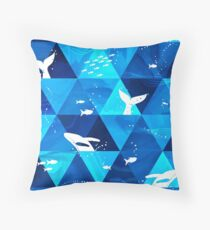 Whales Singing Throw Pillow