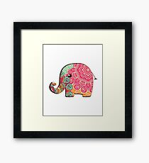 Elephant Graphic Tshirt Framed Print