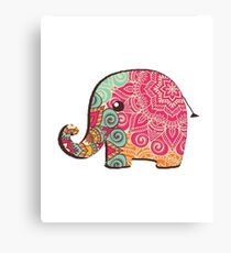 Elephant Graphic Tshirt Canvas Print
