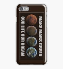 Make Mars Green iPhone Case/Skin
