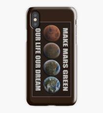 Make Mars Green iPhone Case/Skin
