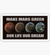 Make Mars Green Sticker