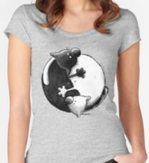 Yin and Yang Cats Women's Fitted Scoop T-Shirt