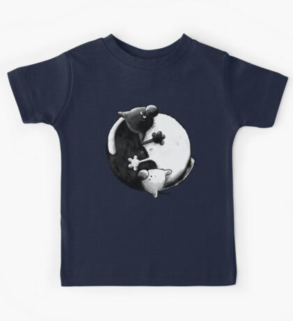 Yin and Yang Cats Kids Clothes