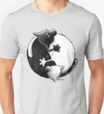 Yin and Yang Cats Unisex T-Shirt