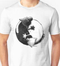 Yin and Yang Cats Unisex T-Shirt