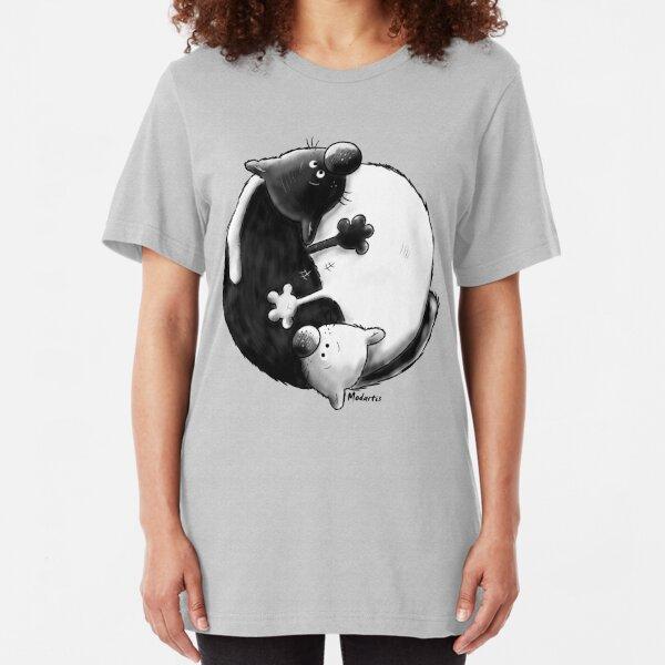 Yin and Yang Cats Slim Fit T-Shirt