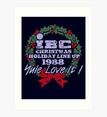 IBC Christmas Line Up Art Print