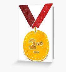 retro cartoon sports medal Greeting Card