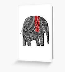 BestSelling Graphic Tsirt Decorated Elephant Greeting Card