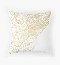 BARCELONA SPAIN CITY STREET MAP ART Throw Pillow