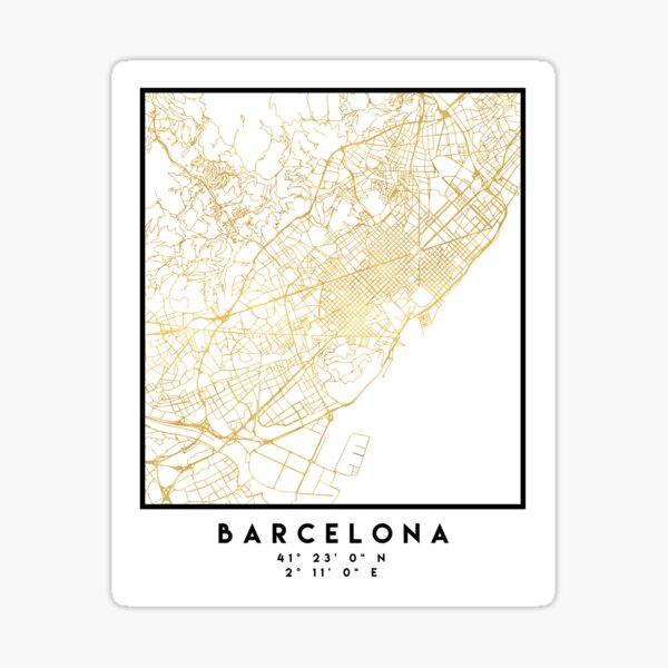 Spanien in Gold Sticker