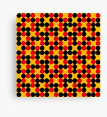 yellow background red black dots pattern Canvas Print