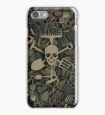 Garden tools camouflage iPhone Case/Skin