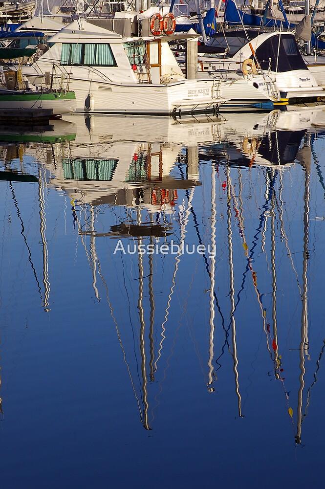 Marina reflections. by Aussiebluey