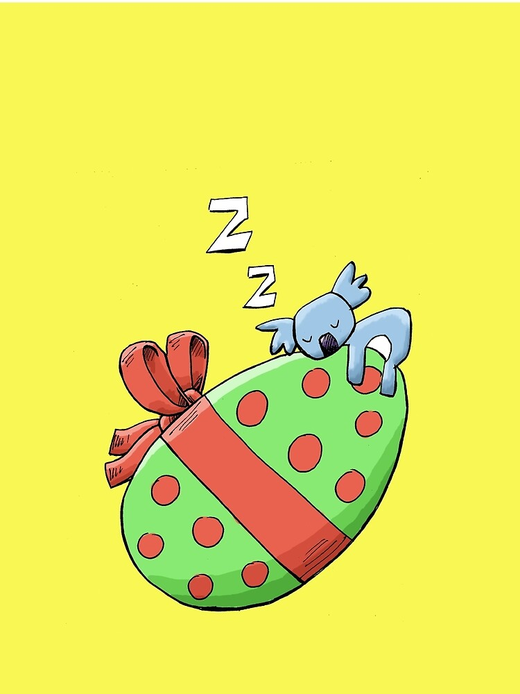 Cute Sleeping Koala on an Easter Egg by eddcross