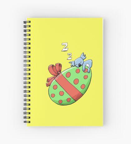 Cute Sleeping Koala on an Easter Egg Spiral Notebook