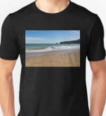 Ocean Waves Bounty - Beachcombers Treasures on Dona Ana Beach in Lagos Portugal   T-Shirt